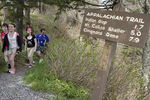 Family hiking the Appalachian Trail