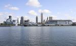 Cleveland skyline from Lake Erie, Ohio.