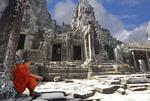 Monks in Angkor Wa.