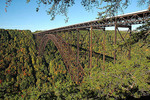 USA, West Virginia, Fayette County, New River Gorge Bridge, 876' above the New River