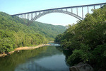 New River Gorge Bridge, 876 feet above the New River in West Virginia