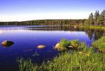 Benjies Lake on Cape Breton Island, Cape Breton Highlands National Park,  Nova Scotia