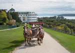 Carriage ride from the Grand Hotel on Mackinac Island