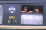 Famous Trans Siberian Railroad Passengers on Train Siberia Russia