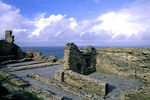 King Arthur's home Tintagel Castle in Cornwall, England.
