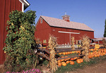 Sunny Acres Farm Market with decorated for Halloween