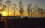 Sunset on Lake Erie in Cleveland from Voinovich Park