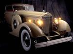 1934 Packard, 445 cubic inch V-12 engine with custom Dietrich body