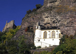 Church in the rock in Idar Oberstein, Germany.