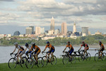 Bicyclers from Spin Bike Shop at Edgewater Park, Cleveland.