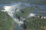 One of the most spectacular waterfalls in the world, Iguassu Falls.