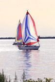 Sailboat racing on Lake Erie in Ohio