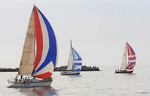 Sailboat racing on Lake Erie in Ohio