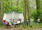 Campers at Findley State Park in Wellington, Ohio.