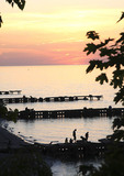 View of Lake Erie from Edgewater Park on Westside of Cleveland