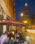 Outdoor Dining in the Warehouse District of Cleveland