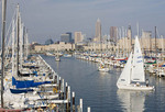 Edgewater Yacht Club  with  Cleveland skyline