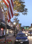 Early evening in downtown Willoughby, Ohio