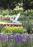 Adirondack Chair in a Summer garden