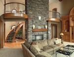 Living room of modern upscale home