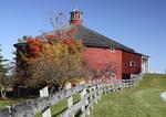 Round barn Shelburne Museum in Shelburne, Vermont.