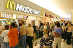 Raleigh,  North Carolina Crabtree Valley Mall, largest shopping center in state, competing fast food vendors,