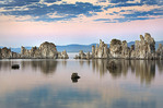 Evening light over Tufa formations on Mono Lake