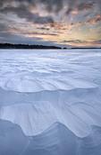 Sunset near Peaderson's Island, Rainy Lake, Voyageurs National Park, Minnesota, USA