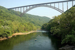 Whitewater rafting, New River Gorge Bridge, West Virginia.