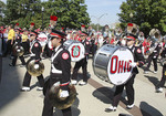 The Ohio State University marching band heading into Ohio Stadium before a football game on Saturday