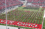 Ohio State University Marching bands at half time of football game vs Navy