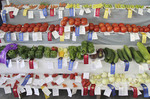 Display of vegetables at County Fair