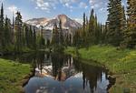 Mount Rainier reflecting in Mirror lakes, Mount Rainier National Park