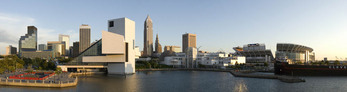 Cleveland, Ohio skyline from Inner Harbor