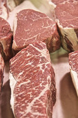 New York strip steaks, filets and Porterhouse steaks that are all graded USDA Prime.
