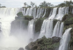 Iguassu Falls, the most spectacular waterfall in the world. National Park, Brazil, Argentina,