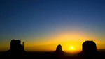 The Mittens, Merrick Butte at Sunrise, Navajo Land, Monument Valley, Navajo Tribal Park, Arizona, Utah
