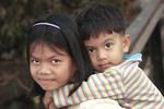 Cambodian siblings in SIam Rea