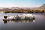 Udaipur India lake palace hotel on the lake in Rajastha