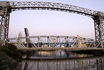 Bridges over the Cuyahoga river in the Cleveland
