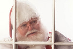 Santa Claus looking in the window