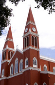 Famous Metal church in Grecia Costa Rica the only metal church cathedral  in all the Americas made in Pomania