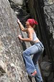 Grace Harwell Rock Climbing Savage Rock, Denali NP, AK