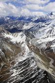 Aerial view of the Alaska Range north east of Denali