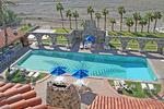 People swimming pool Furnace Creek Inn, Death Valley National Park