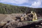 Placer mining for gold, Burwash Creek, Yukon Territory, Canada