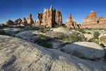 Rock formations in The Needles district, Canyonlands National Park, Utah, USA
