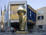 Replica of NBA Finals Trophy during NBA finals - Cleveland Cavaliers vs San Antonio Spurs