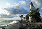 Marblehead Lighthouse on Lake Erie in Ohio