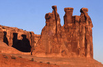 Three Gossips and Shadows at Arches National Park